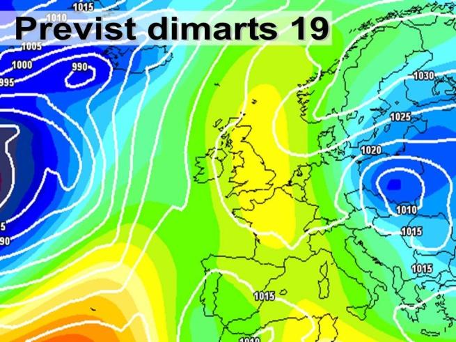 El vent de llevant ens afectarà a partir de dimarts