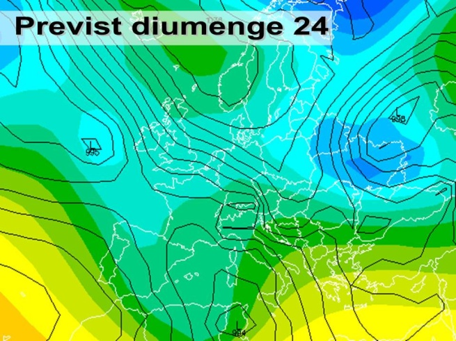 En la previssió per al diumenge 24 l'oratge encara es mostrarà un tant variable.