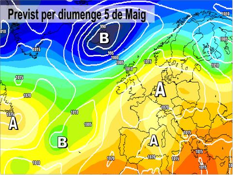 En la previssió per a este cap de setmana, es preveu l'arrivada de altes pressions sobre la península. També cal destacar com la borrasca dels darrers dies acabarà per allunyar-se i aixó estabilitzarà l'oratge a bona part de la Comunitat.