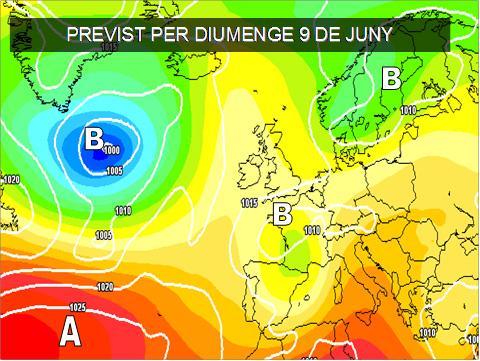 La inestabilitat a les capes mitjes de la atmosfera, farà que el cap de setmana puguen registrar-se algunes tronades en arees de muntanya.