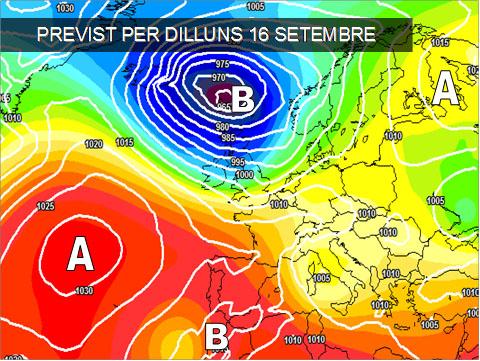 Els mapes del temps per a la propera setmana ens mostren un oratge indefinit, a l'espera de vore que fà finalment la borrasca que hi ha cap a les Canaries.