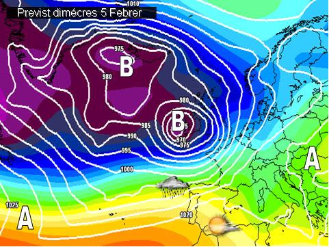En els mapes previstos per a la setmana propera, no es veuen massa canvis. Continuarem dins de situacions de vents secs de ponent i mestral que faran que practicament es repetixca el mateix patró meteorològic de les darreres setmanes.