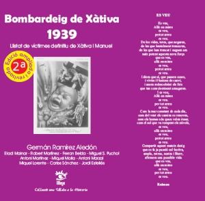 Portada del libro de Germán Ramírez Aledón del listado definitivo de las victimas del bombardeo de Xàtiva.