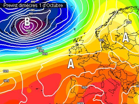 Caldrà estar de nou atents a com evolucionen els models meteorològics donat que tindrem aire fred a les capes altes i entrada de vents allevantats.