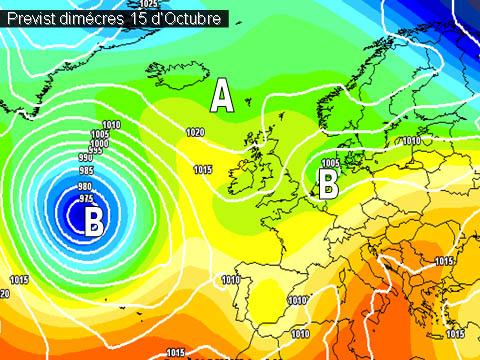 La setmana vindrà determinada per la inestabilitat que afectarà a bona part de la península.