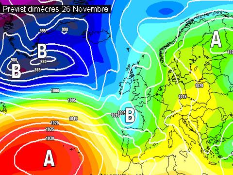 La setmana vindrà determinada per un oratge ennuvolat i amb el risc de algunes pluges. A partir de divendres notable descens de temperatures fruit de l'entrada de vents de mestral (N.O) que bufaran forts i incrementaran la sensació de fred.