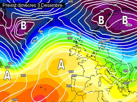 La setmana vindrà determinada per un notable descens de les temperatures, amb valors més propis per a l'època de l'any.